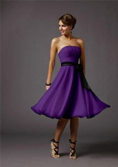 Purple bridesmaid dress, love the heels also jomoni