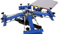 4 Color 1 Station Silk Screen Printing Machine Screen Printing Press