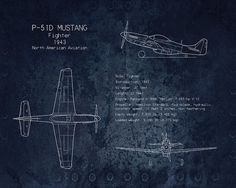 Art collectibles print featuring the digital art b 52 p 51 mustang blueprint art print art print by sara harris malvernweather Image collections
