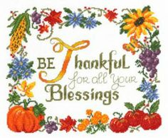 Thankful by Imaginating is a beautiful Thanksgiving cross stitch pattern that is sure to brighten up your home around the holiday!
