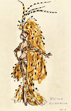 Gold Showgirl by Bob Mackie