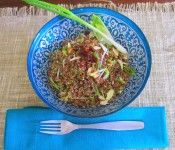 Red Quinoa with Mint, Endive & Cranberries – Gluten-free, dairy-free. Yoga with Lois