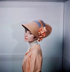 Actress Audrey Hepburn (1929-1993), in George Cukor's film, My Fair Lady, 1964.