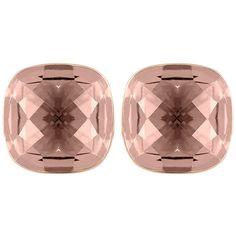 Swarovski Lea Pierced Earrings (795 MXN) ❤ liked on Polyvore featuring jewelry, earrings, vintage style earrings, vintage style jewelry, pink jewelry, swarovski jewelry and swarovski earrings