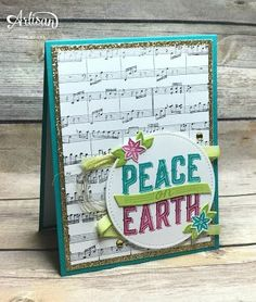 The Carols of Christmas Stamp Set and coordinating Card Front Builder Thinlits Dies are perfect for creating Christmas cards.
