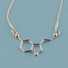 Serotonin molecule necklace- A monoamine neurotransmitter contributes to feelings of happiness and well-being. Overwatch Symmetra, Gogo Tomago, Science Store, Molecule Necklace, Piercings, Killer Frost, Gwen Stacy, Girl Meets World, Blue Aesthetic