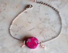 "#Armband ""Pink Eye"" Unikat – #Armschmuck  #Pulsera ""Pink Eye"" #unique  #Bracelet ""Pink Eye"" #jewelry Armband Pink, Crystal Jewelry, Gemstone Jewelry, Etsy Jewelry, Handmade Jewelry, Pink Eyes, Selling Jewelry, Sell On Etsy, All Fashion"