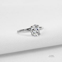 529b07369a9 1.25 ct Oval Cut Solitaire 925 Sterling Silver Cubic Zirconia Engagement  Ring - CZ