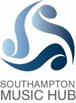 Southampton Music Hub  Layout of text is fitting with the size of the logo. use of musical notes in a discreet way making it a very sleek logo