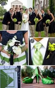 emerald and navy wedding