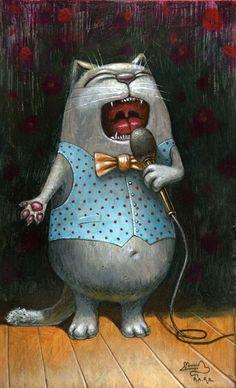 Просмотреть иллюстрацию Баритон из сообщества русскоязычных художников автора Павел Кульша в стилях: Персонажи, нарисованная техниками: Акрил.