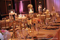 Blush and Gold Wedding Reception Hammock Beach Resort
