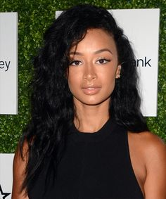 Draya Michele Long Curly Casual Hairstyle – Black Hair Color - New Sites Casual Hairstyles, Afro Hairstyles, Hairstyles Pictures, Black Hairstyles, Hairstyle Ideas, Long Curly Hair, Curly Hair Styles, Draya Michelle, High Fashion Hair