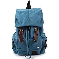 mochila de los hombres de la vendimia de ocio de la lona (colores surtidos) 2016 – £19.01