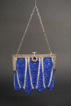 Art Deco Beaded Handbag - 1920's - @~ Watsonette