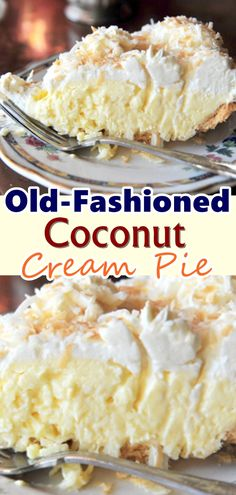 This easy to make delicious coconut cream pie is anything but basic. Rich, creamy vanilla custard and a cloud of whipped cream fill a flakey butter crust. recipes Old-Fashioned Coconut Cream Pie Easy Pie Recipes, Cream Pie Recipes, Coconut Recipes, Healthy Dessert Recipes, Gourmet Recipes, Baking Recipes, Pie Coconut, Easy Coconut Cream Pie, Snacks Recipes