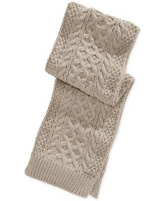 MICHAEL Michael Kors Handknit Cable Muffler Scarf Fingerless Gloves, Arm Warmers, Hand Knitting, Scarves, Michael Kors, Hats, Cable, Shopping, Winter