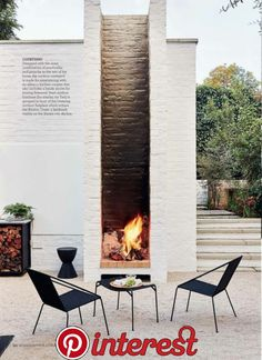 41 Affordable Diy Project Fire Pit Table Ideas To Decorate Your House In Winter To change brands would mean that you may have to shed the money which you spent on the original table and many woodworkers don't want to do that. Placecard Holders One approach to follow your… Design Jardin, Garden Design, House Design, Wall Design, Landscape Design, Landscape Stairs, Design Design, Outdoor Spaces, Outdoor Living