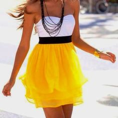 Love this yellow! Summer time!