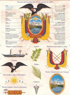 Elementos del Escudo del Ecuador   Símbolos Patrios Más