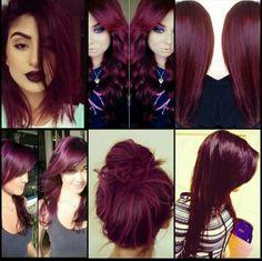 Merlot hair color