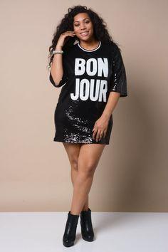 'BonJour' Sequin Dress