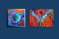Nautical Paintings by Miami based artist Laelanie Larach.