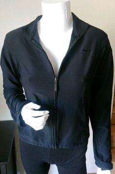 910e963133 Women s Nike Dri-Fit Athletic Jacket Size Small Run Fitness Full Zip Black.3