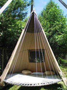 Cool outside teepee via I love creative designs and unusual ideas on Facebook