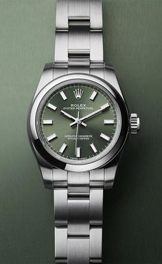 The Oyster Perpetual 26 with an olive green dial.  beautifulwatchesmen  Πολυτελή Ρολόγια 93c4f8afb4a