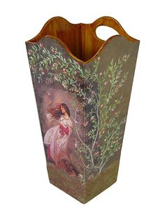 Dekupaj ve Eskitme Sanatı Decoupage Box, Decoupage Vintage, Home Crafts, Diy And Crafts, Arts And Crafts, 257, Romantic Homes, Painting On Wood, Decorative Boxes