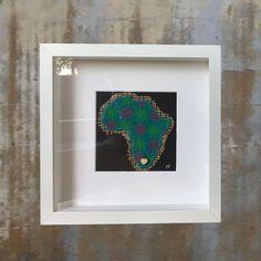 "cotton-sox ""I love Africa"" map original Shweshwe textile Africa box frame art Framed Fabric, Framed Prints, 3d Frames, Africa Map, Cotton Socks, Decorative Accessories, Fabric Design, Textiles, Box"