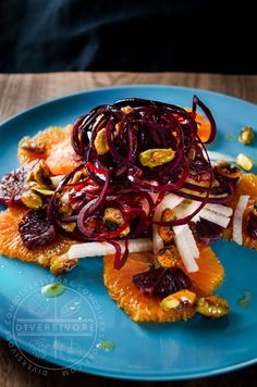 Spectacular colours and bright flavours combine to make an amazingly distinctive salad.  Gluten-free and vegan.
