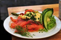 salmon smørrebrød in the Merlin and Rebecca blog: The Curious Case of Danish Sandwiches