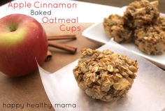 Apple Cinnamon Baked Oatmeal Cups: use FF dairy milk. See notes about increasing salt & cinnamon. May add Splenda.