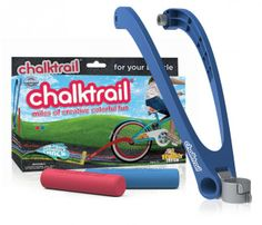 Chalktrail® and thousands more of the very best toys at Fat Brain Toys. Miles of invigorating, colorful fun! Bike riding combines with chalk creativity. Draw figure eights, wavy meandering paths, perfect circles, fascinating . Outdoor Toys, Outdoor Fun, Toys For Girls, Kids Toys, Brain Training Games, Cool Gifts For Kids, Kids Gifts, Spirograph, Thing 1