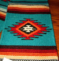 "Beautiful handwoven wool table runner measures 10x80"" & has fringed ends. Classic southwestern. Put it on your table or hang it on your wall as a tapestry! $39.95 w/free shipping! #tablerunner #homedecor #southwestern #woven"