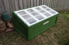 yes, we've all seen cold frames made from windows, but this one cleverly opens refrigerator style...love it!