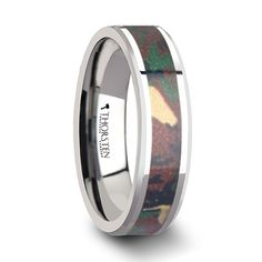 TANGO Tungsten Wedding Band Military Style Jungle Camouflage Inlay 6-10mm