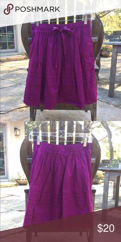 Anthropologie skirt sz XS EUC Anthropologie Odille Pintuck Cotton lined pocket bubble skirt. 100% cotton. Anthropologie Skirts Mini