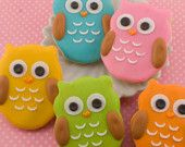 Super cute owl sugar cookies