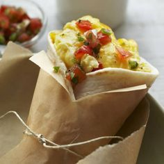 Create this Egg & Cheese Breakfast Burrito in under 5 minutes.   #microwave #recipes