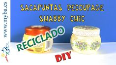 Decoupage, Shabby Chic, Water Bottle, Diy, Youtube, Food, Plastic Recycling, Recycling, Pencil Sharpener