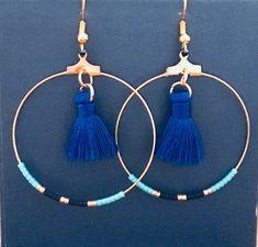 Boucles d/'Oreilles Argenté Dormeuses Rond Mini Perle Bleu Rose Vintage BB 8