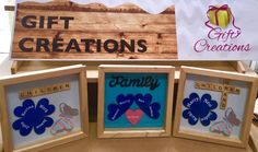 Wall mountable personalised family wooden frame