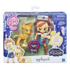 MLP Doll and Pony Set Applejack Brushable Figure