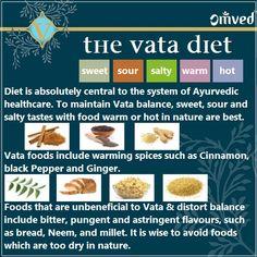 the vata diet in brief - ayurveda dosha