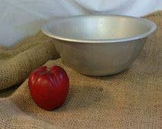 Round Aluminum Bowl Metal Tub Mixing Bowl by RusticBucketsSouth