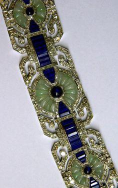 A Unique Art Deco Bracelet by Fouquet, circa 1925. A unique bracelet manufactured during the Art Deco period by the prestigious French hous...