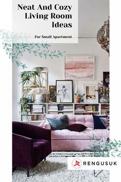 Living in small apartment force us to have a smart decoration and arrangement to get a neat and cozy space. Especially for living room as the important room. Applying a neutral and bright color scheme will make the living room apartment cozier. For the storage idea, you can place a small rack for the storage idea. #apartmentdecor #smallapartment #livingroomapartmentdecor #livingroomdecor Decor, Rustic Bedroom Decor, Colorful Interiors, Decor Buy, Home Decor Trends, Apartment Living Room, Diy Furniture Easy, Home Decor, Cozy Living Rooms